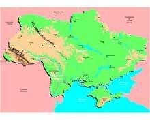 Скачать Физическая Карта Украины - фото 11