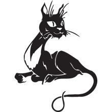 Кошки наклейки на авто кошки коты