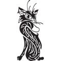 Клипарт татуировки кошки черные коты