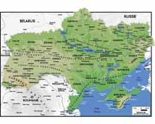 Скачать Физическая Карта Украины - фото 8